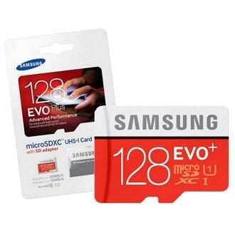 """(特價商品數量有限)SAMSUNG 三星128GB(128G)【EVO PLUS】microSDXC UHS-1 C10""""三防"""" 高速記憶卡★附贈SD轉卡★"""