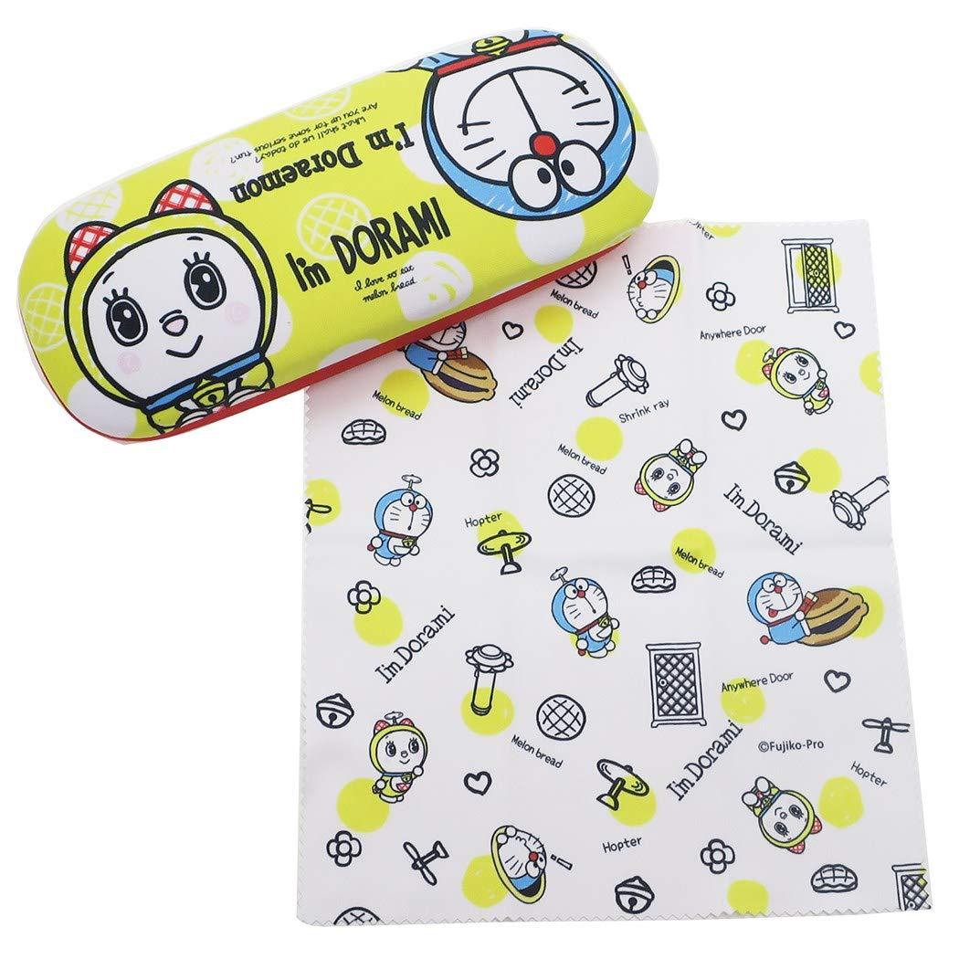 X射線【C090788】哆啦A夢Doraemon 眼鏡盒附擦拭布,眼鏡收納架 / 眼鏡盒 / 眼鏡掛架 / 太陽眼鏡盒 0