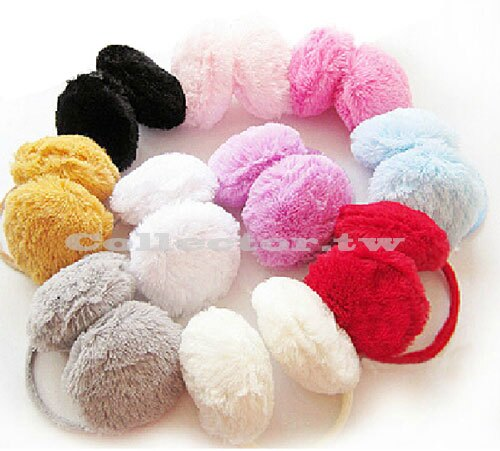 【M14102901】韓版冬季保暖仿兔毛耳罩 可愛毛絨絨保暖耳罩 女用耳罩
