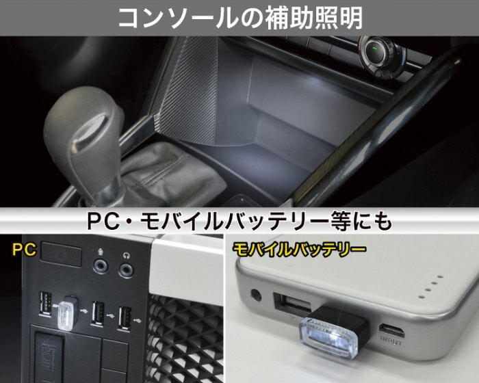 ~禾宜 ~USB防塵塞 SEIKO EL~171 USB 防塵套裝飾燈 白 2入 車用 電