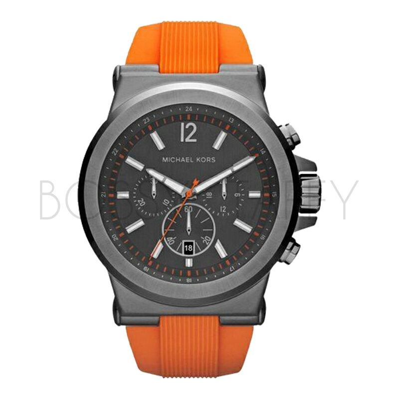 MK8296 MICHAEL KORS 橘色錶帶 大錶面 三眼計時 男錶