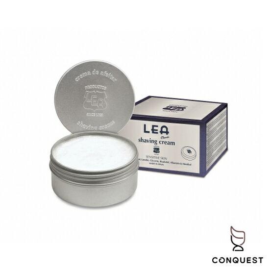【 CONQUEST 】西班牙 LEA Classic 經典檀香刮鬍皂 刮鬍膏 刮鬍泡 鬍皂 溫和舒緩 深層保濕滋潤肌膚