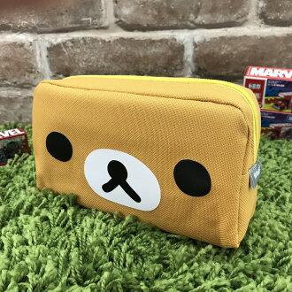 【真愛日本】17090500013 大方形筆袋-懶熊大臉 SAN-X 懶熊 奶熊 拉拉熊 鉛筆盒 筆袋