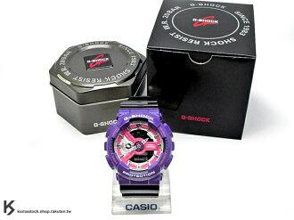 2015 新款登場 超人氣90年代復古配色 日本限定款 CASIO G-SHOCK GA-110NC-6ADR 紫黑 雙色 亮面錶帶 !