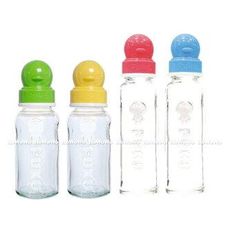 藍色企鵝 PUKU超厚防滑玻璃奶瓶140ml (10106)
