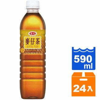 直送~愛之味 麥仔茶 590ml  24入   箱