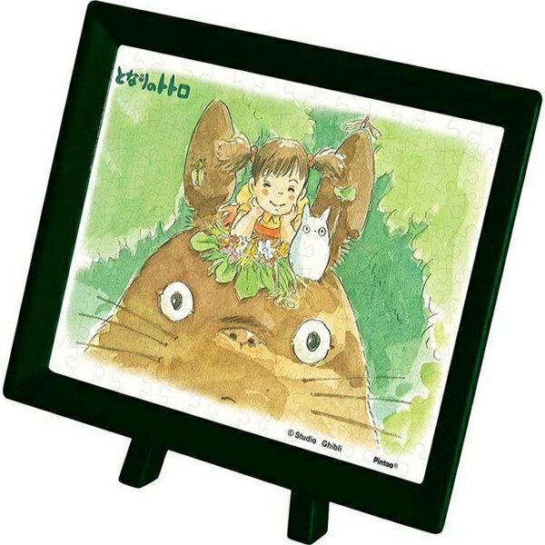 【進口拼圖】宮崎駿系列-龍貓 龍貓與小梅 附框架 150片塑膠迷你拼圖 MA-04