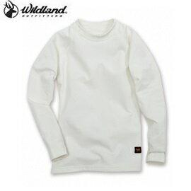 [WILDLAND荒野]童遠紅外線彈性保暖衣米白W2680-81