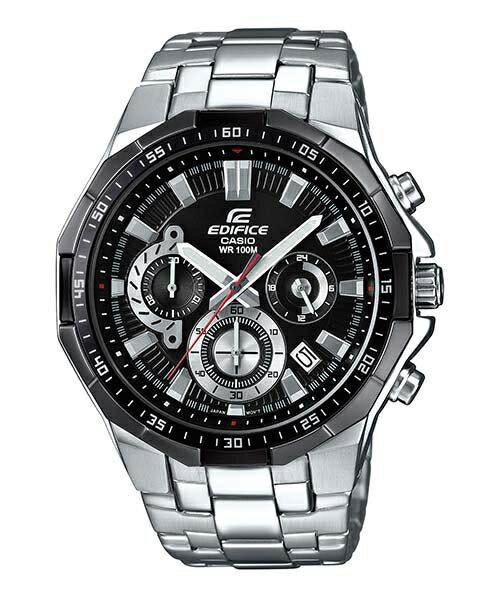 CASIO EDIFICE EFR-554D-1A 三眼時尚計時腕錶/黑面47mm