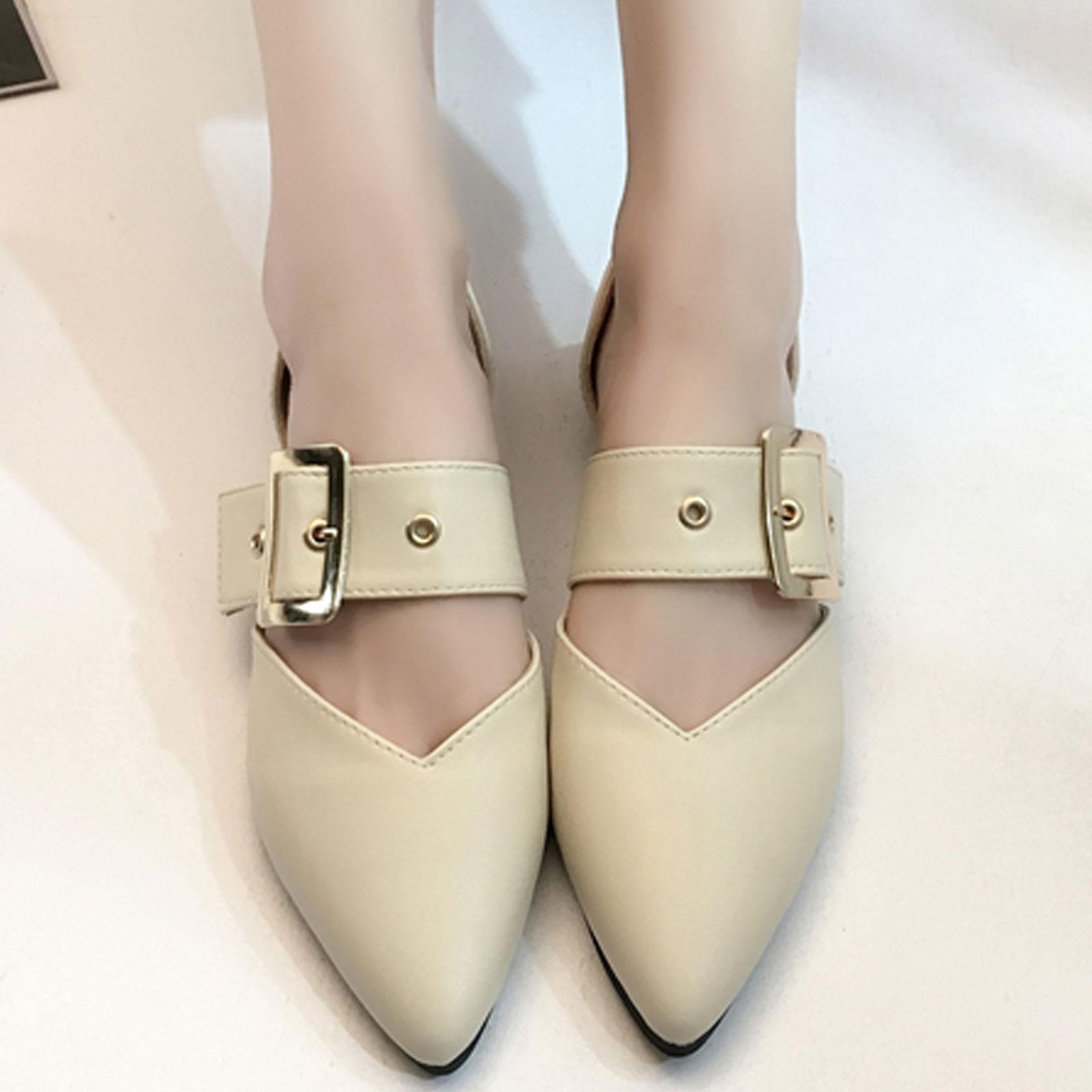 平底鞋 側空淺口皮帶扣尖頭平底鞋【S1684】☆雙兒網☆ 0