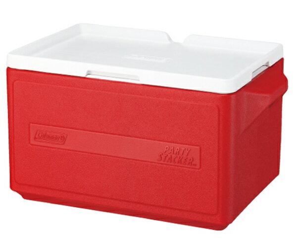 【鄉野情戶外專業】 Coleman |美國| 31L 置物型冰桶 /冰桶 保鮮桶 保冰箱-紅/CM-1329JM000