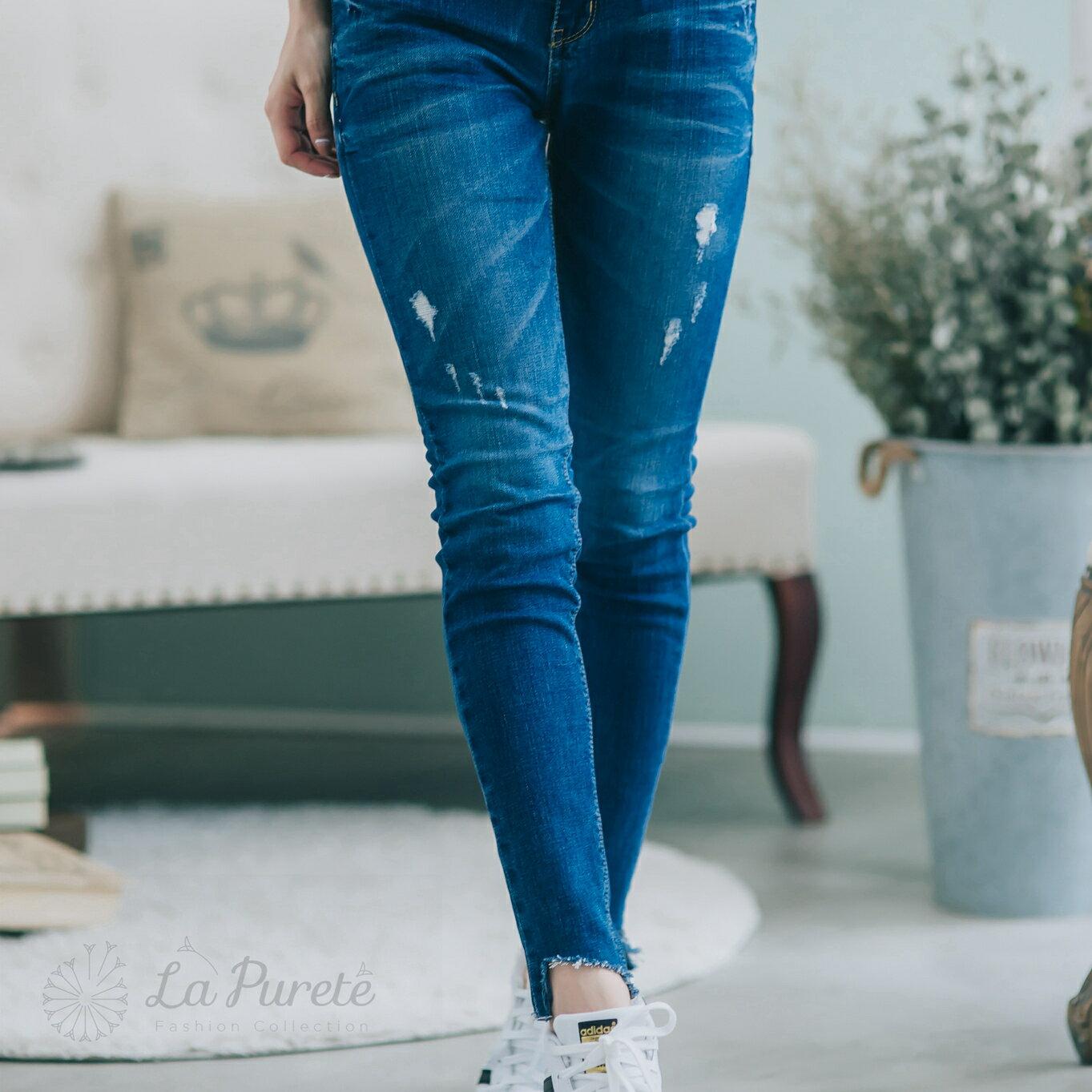 La Purete蕾菲爾【斜缺口造型牛仔褲】16B0004