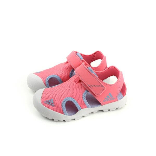 adidasCAPTAINTOEYK涼鞋運動鞋粉紅色童鞋CM7640no555