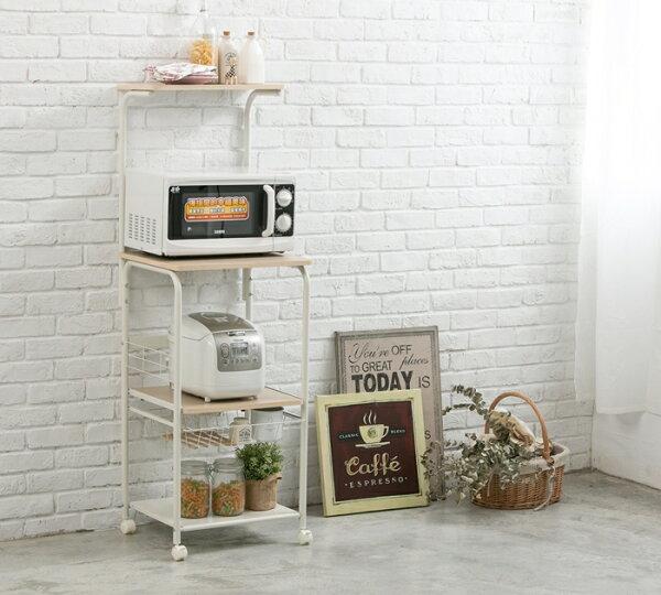 熱銷推薦MIT四層附籃廚房家電收納架電器架櫥櫃置物架SUNSEA尚時(TZCT045)