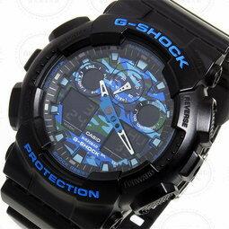 極地迷彩 黑藍  GA-100CB-1A   防水 手錶 腕錶 電子錶 男女錶 1