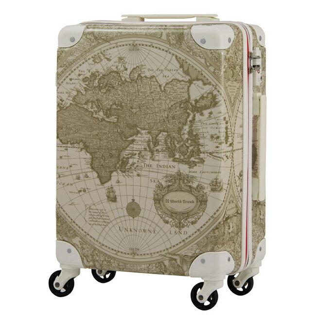 日本 WORLD TRUNK 7500-46-19吋 PC+ABS拉鍊輕量登機箱 雪白世界