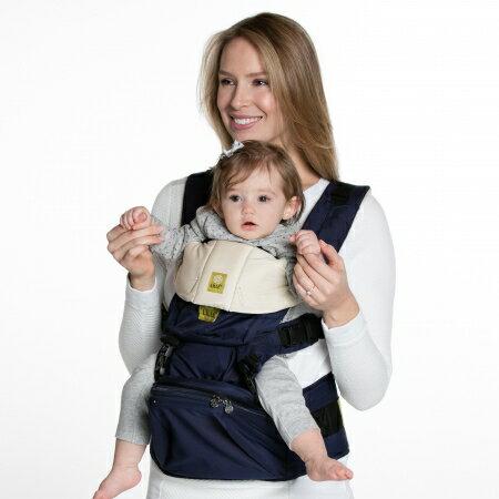 babygo:美國【Lillebaby】SEATME腰凳型嬰兒揹巾-藍色(新生兒適用)