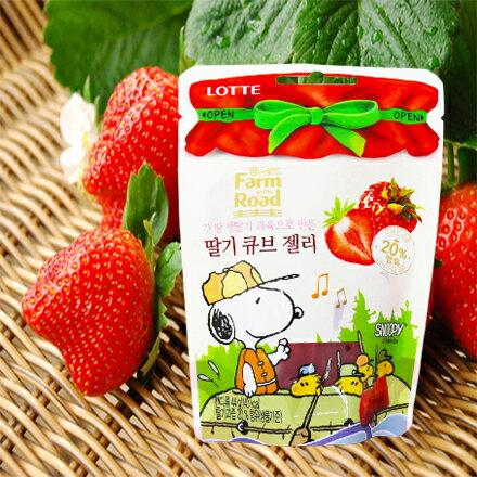 [敵富朗超市]LOTTE田園軟糖-草莓