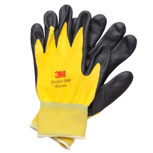 3M亮彩舒適型止滑耐磨手套黃色M
