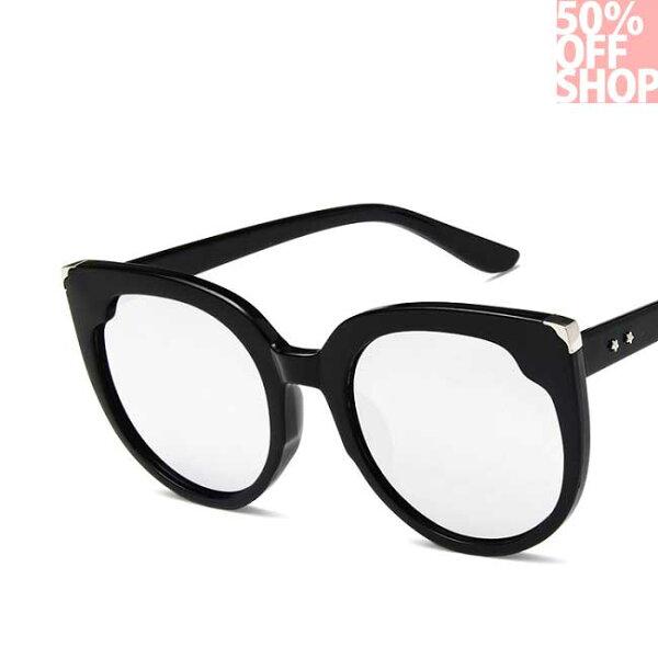 50%OFFSHOP歐美貓耳朵時尚復古潮人墨鏡潮流網紅百搭太陽眼鏡【J036157GLS】