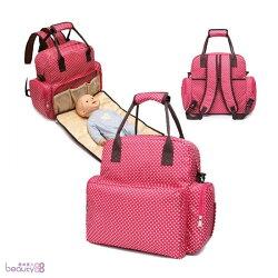 《JMALL》超大容量5用多功能媽咪包/母嬰背包/尿布墊功能包
