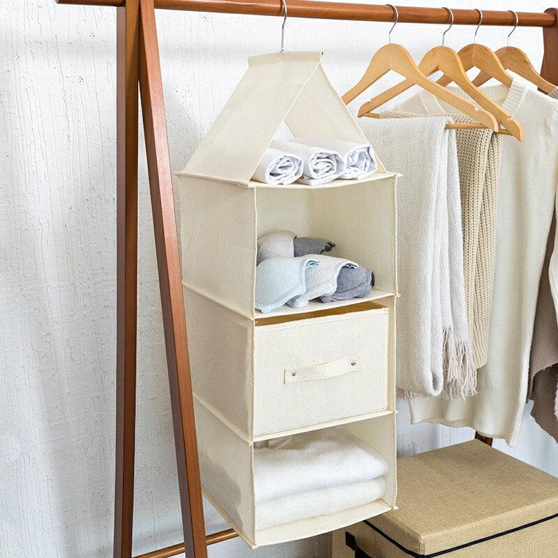 現貨供應▶懸掛式收納袋掛袋宿舍布藝多層盒抽屜式衣櫃收納門后收納
