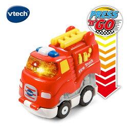 ★Vtech系列滿$1999再送收納箱★ 美國【Vtech】嘟嘟聲光迴力衝鋒車-酷炫消防車