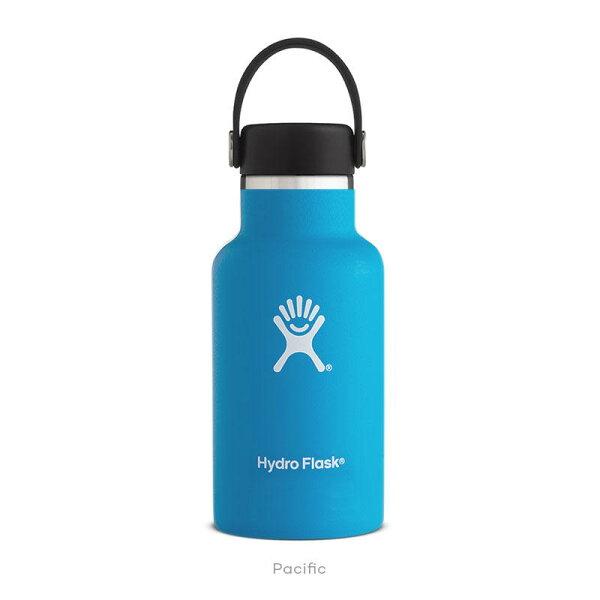 【【蘋果戶外】】HydroFlask標準口12oz355ml藍美國不鏽鋼保溫保冰瓶保冷保溫瓶不含雙酚A