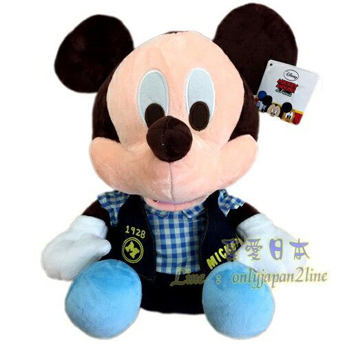 【真愛日本】16090700007牛仔外套30CM坐娃-米奇   迪士尼 米老鼠米奇 米妮  娃娃 絨毛 擺飾