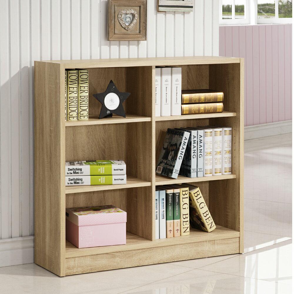 康迪仕六格寬書櫃 ( 淺木色 ) 書櫃 / 書房組 & DIY組合傢俱