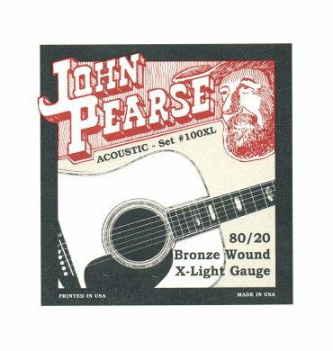 烏克時代~ John Pearse 美製民謠吉他弦 80/20黃銅 100XL (10-47)