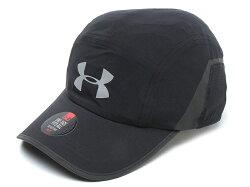《UA出清69折》Shoestw【1291843-001】UNDER ARMOUR Pinnacle UA 帽 慢跑帽 透氣 防潑水 反光 可調式 黑色
