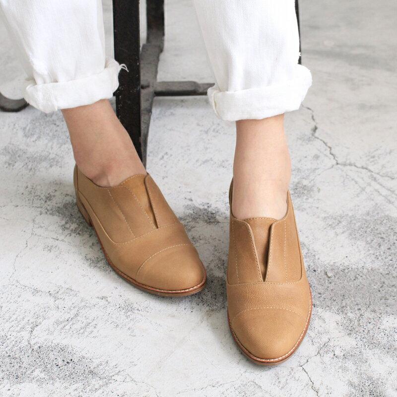【C2-17740L】新色簡約真皮復古紳士鞋_Shoes Party 2