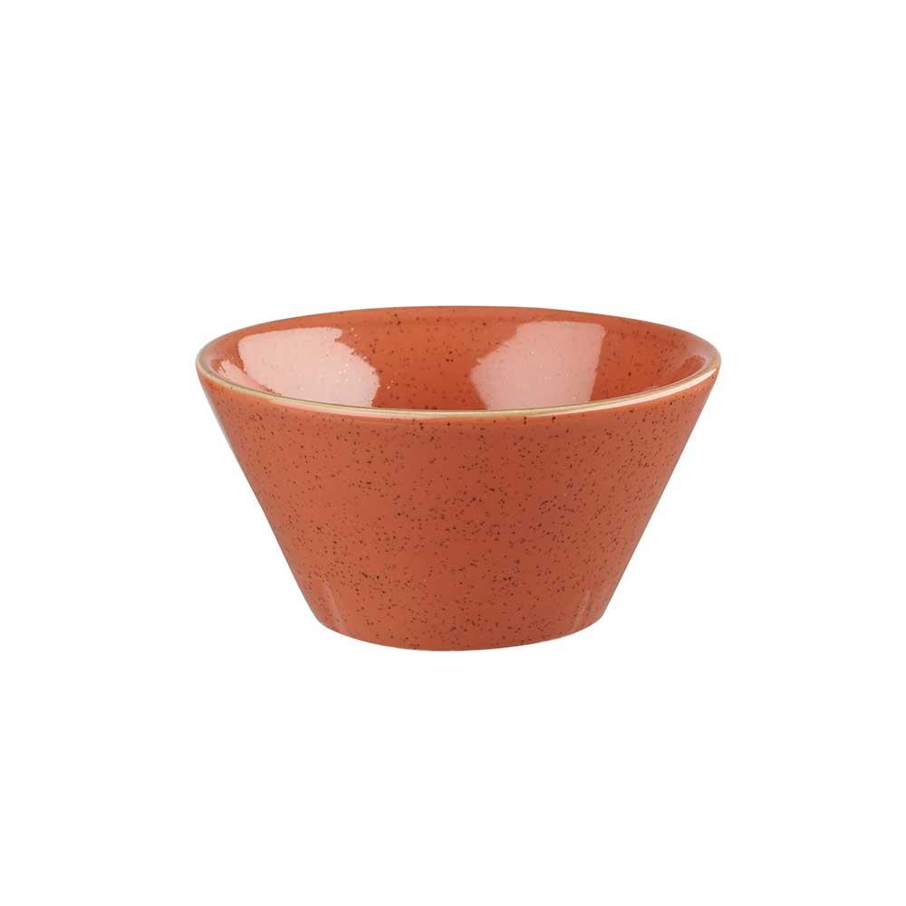 英國Churchill 點藏系列 - 12*6.5cm點心錐形碗(橘)