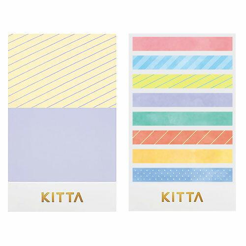 【日本KITTA】隨身攜帶和紙膠帶slimKITS002粉彩色系本