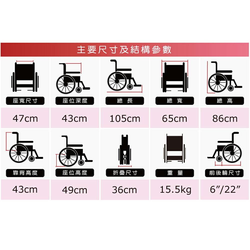 必翔銀髮 座得住移位手動輪椅 PH-183KB (未滅菌) 輪椅【生活ODOKE】
