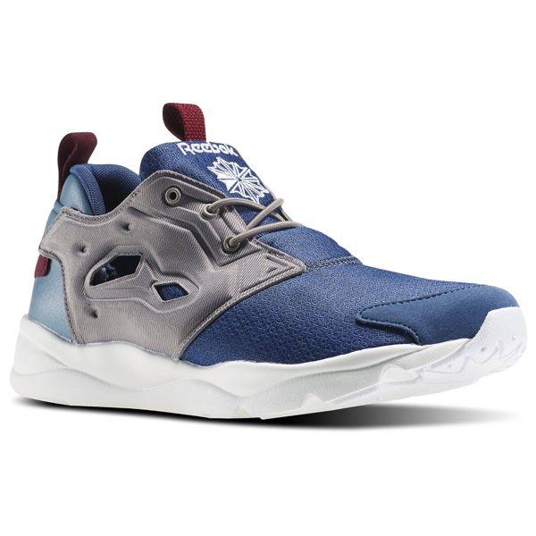 《限時特價↘6折免運》REEBOK FURYLITE CLSHX 男鞋 慢跑鞋 運動 藍 灰 紅 白 復古 網布 【運動世界】 AR1322