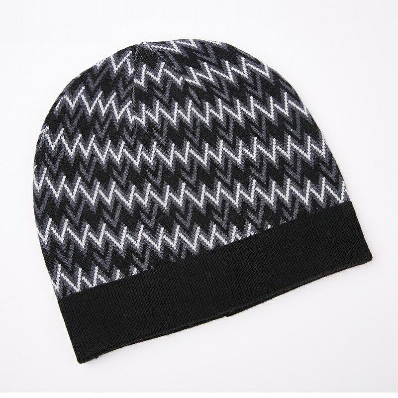 毛帽羊毛針織帽-W紋提花加厚捲邊男帽子3色73wj37【獨家進口】【米蘭精品】 0
