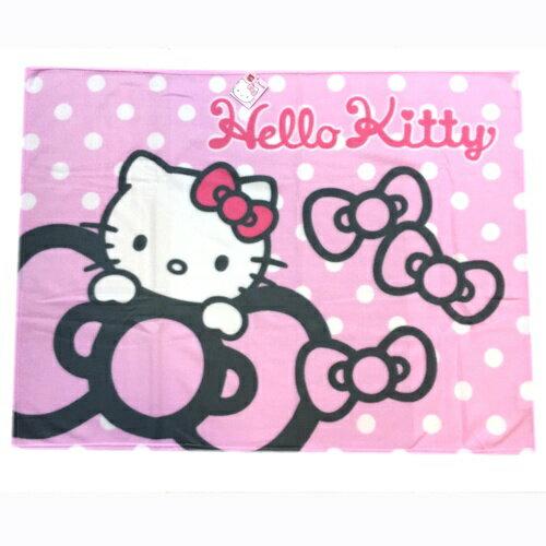 【唯愛日本】15013100005 刷毛毯75*100-最愛蝴蝶結 三麗鷗 Hello Kitty 凱蒂貓 毯子 被子 正品