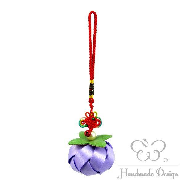 柿子吊飾 中國結-12mm珍珠帶 (10色/材料包)