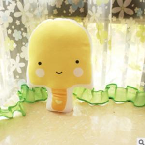 美麗大街【HB31E2297】仿真西瓜冰棒單雙面印花抱枕午睡枕頭座椅靠墊-黃色冰棒款(42*32cm)