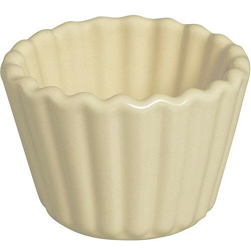 《EXCELSA》Fashion陶製花邊布丁烤杯(奶油黃9cm)
