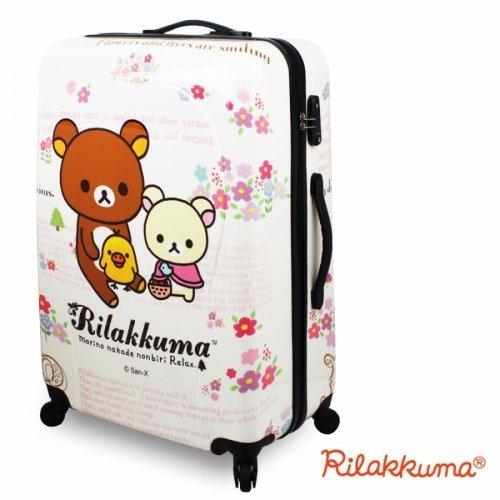 【加賀皮件】 行李箱旅行箱拉桿箱登機箱 24吋 Rilakkuma 拉拉熊 懶懶熊 野餐拉拉 系列【HF-9035】