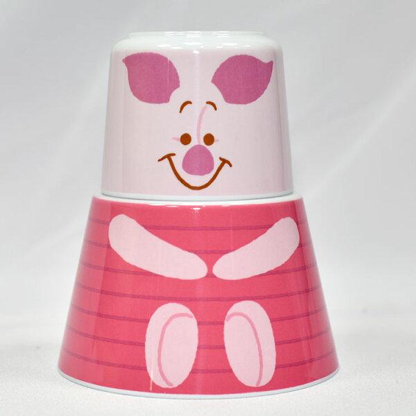 小熊維尼小豬一杯一湯碗組合日本正版品pooh迪士尼
