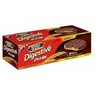 【麥維他】黑巧克力消化餅(300克)X6盒【紙盒新包裝】6盒特賣!
