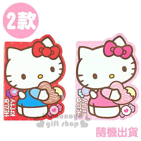 〔小禮堂〕Hello Kitty 造型筆記本《2款.隨機出貨.紅/粉.站姿.糖果》