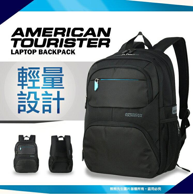 《熊熊先生》 Samsonite 新秀麗 American tourister美國旅行者AMBER系列 17吋筆電後背包/商務包 81S 寬版背帶 8IS 電腦雙肩包 可插掛拉桿