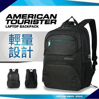 《熊熊先生》Samsonite 新秀麗AT美國旅行者 17吋筆記型電腦/電腦後背包 護脊背墊 休閒雙肩包 81S 可調式減壓背帶 AMBER
