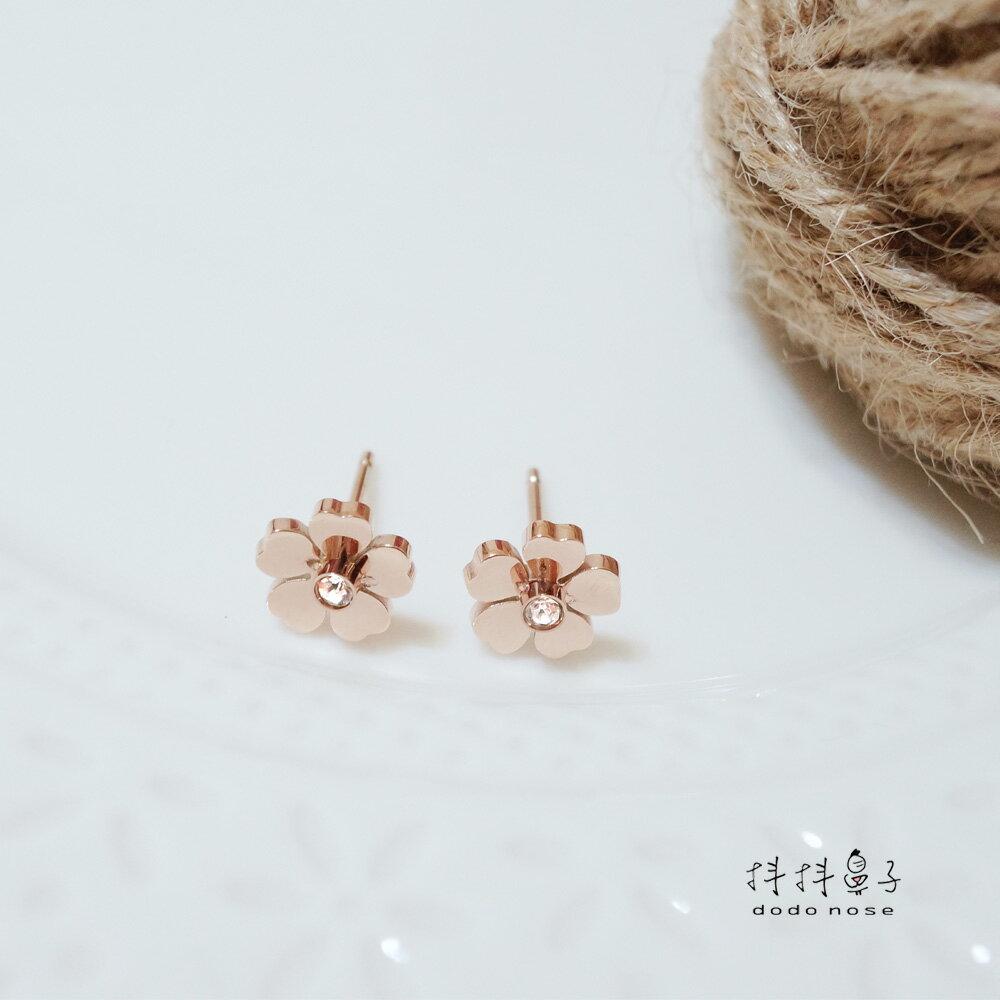 山茶花不鏽鋼耳環 1