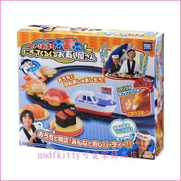 asdfkitty可愛家☆TAKARATOMY-大漁電動旋轉壽司組玩具迴轉壽司組-含壽司模型-日本正版